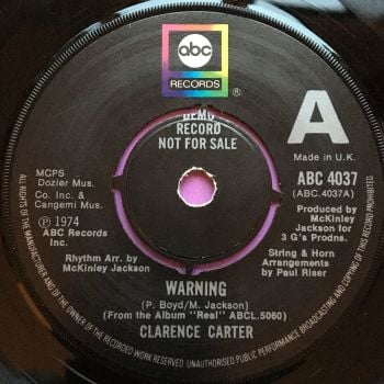 Clarence Carter-Warning-UK ABD Demo E