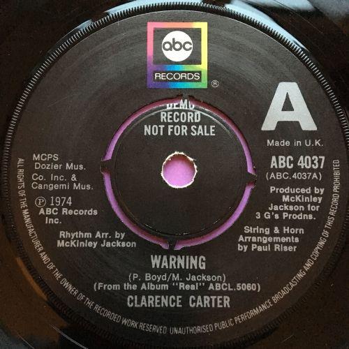 Clarence Carter-Warning-UK ABD Demo E