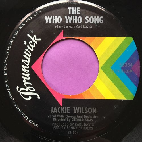 Jackie Wilson-Who who song-Brunswick E+