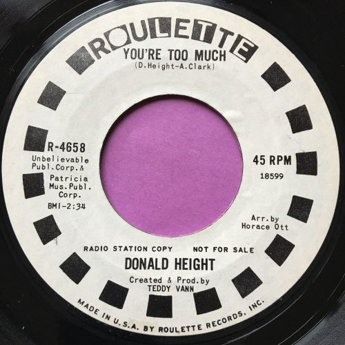 Donald Height-You're too much-Roulette WD E+