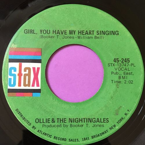 Ollie & The Nightingales-Girl,you have my heart singing-Stax vg+