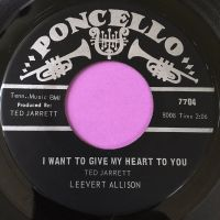 Leevert Allison-I want to give my heart to you-Poncello E+