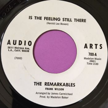 Remarkables-Is the feeling still there-Audio arts WD E+