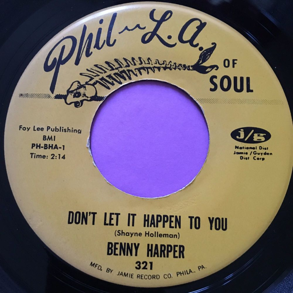 Benny Harper-Don't let it happen to you-Phila of Soul E+