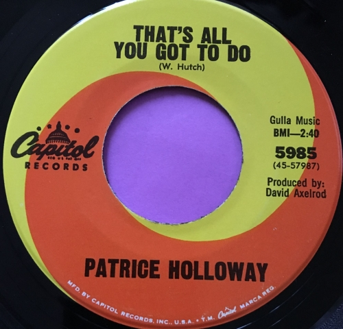 Partice Holloway-Stay with your own kind-Capitol E+