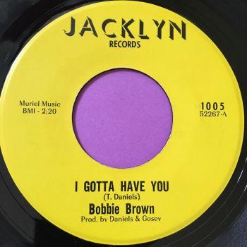 Bobbie Brown-I gotta have you-Jacklyn E+