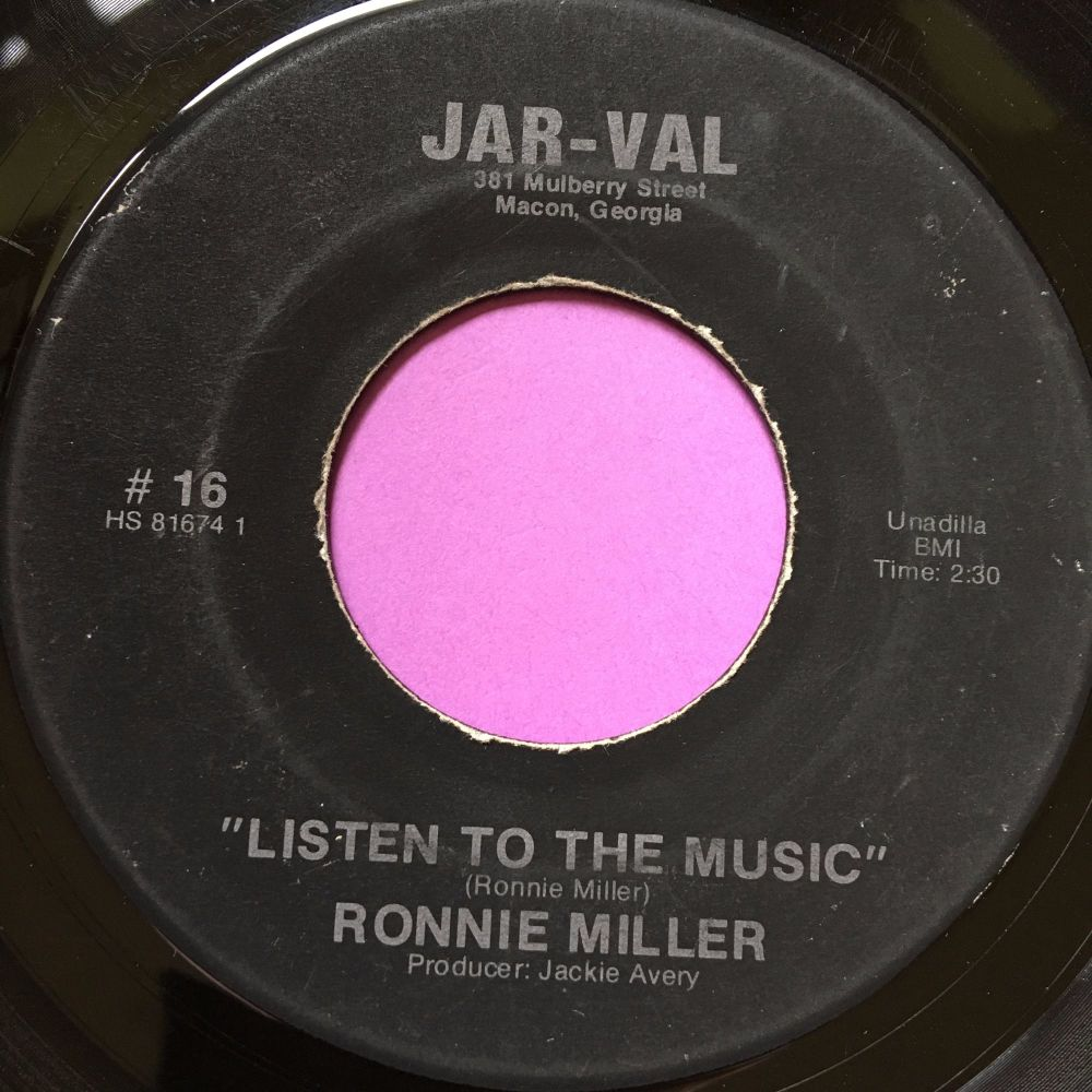 Ronnie Miller-Listen to the music-Jar-val vg+