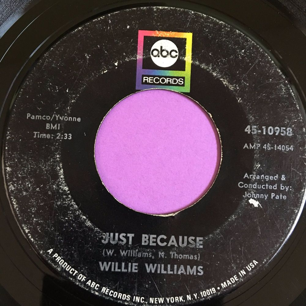 Willie Williams-Just because-ABC vg+