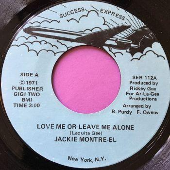 Jackie Montre-el-Love me or leave me alone-Success E+
