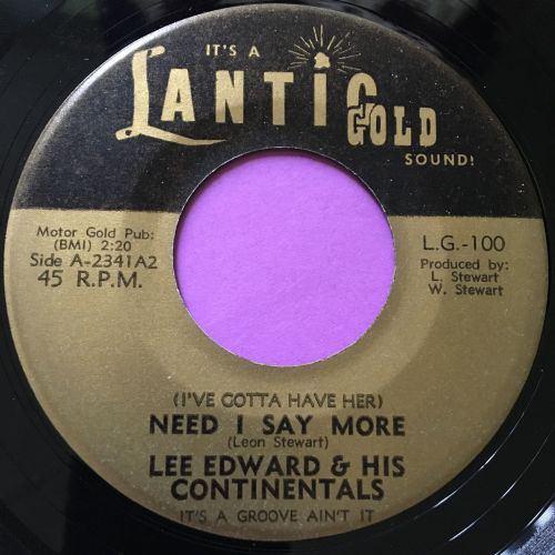 Lee Edwards and Continentals-Need I say more-Lantic gold E+