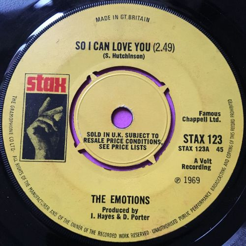 Emotions-So I can love you-UK Stax E
