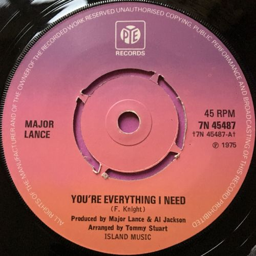 Major Lance-You're everything I need-UK Pye E+