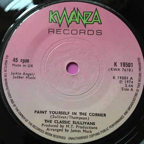 Classic Sullivans-Paint yourself in the corner-UK Kwanza E