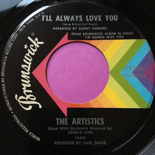 Artistics-I'll always love you/Love song-Brunswick E+