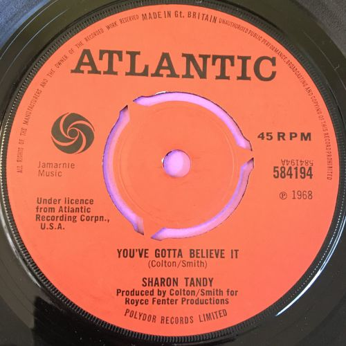 Sharon Tandy-You've got to believe it-UK Atlantic E+
