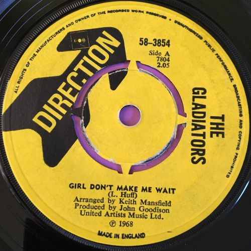 Gladiators-Girl don't make me wait-UK Direction E+