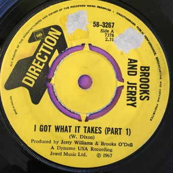 Brooks and Jerry-I got what it takes-UK Direction label tear E
