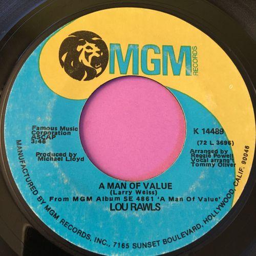 Lou Rawls-Man of value-MGM vg+