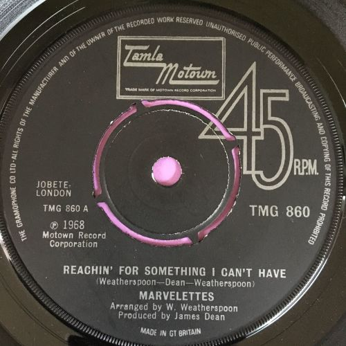 Marvelettes-Reaching for something I can't have-TMG 860 E