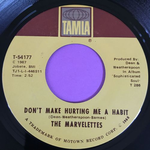 Marvelettes-Don't make hurting me a habbit-Tamla E+