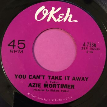 Azie Mortimer-You can't take it away-Okeh E+