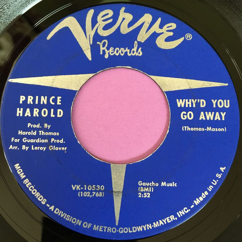 Prince Harold-Why'd you go away-Verve E+