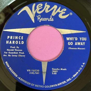 Prince Harold-Why'd you go away-Verve E+