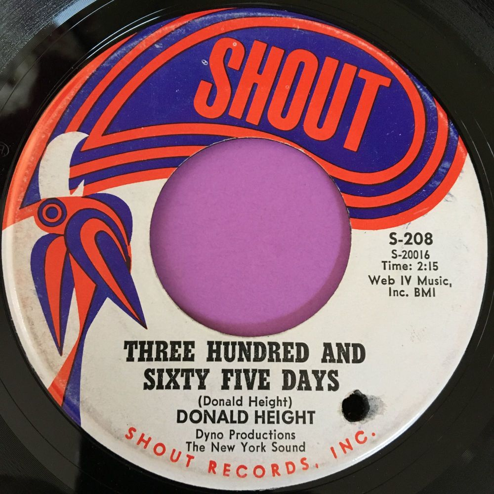 Donald Height-Three hundred and sixty five days-Shout E+