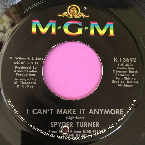 Spyder Turner-I can't make it anymore-MGM E+