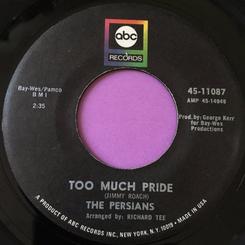 Persians-Too much pride-ABC E