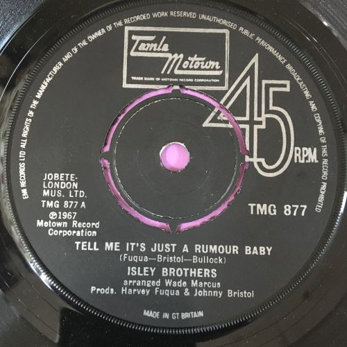 Isley Brothers-Tell me it's just a rumour baby-TMG 877 E