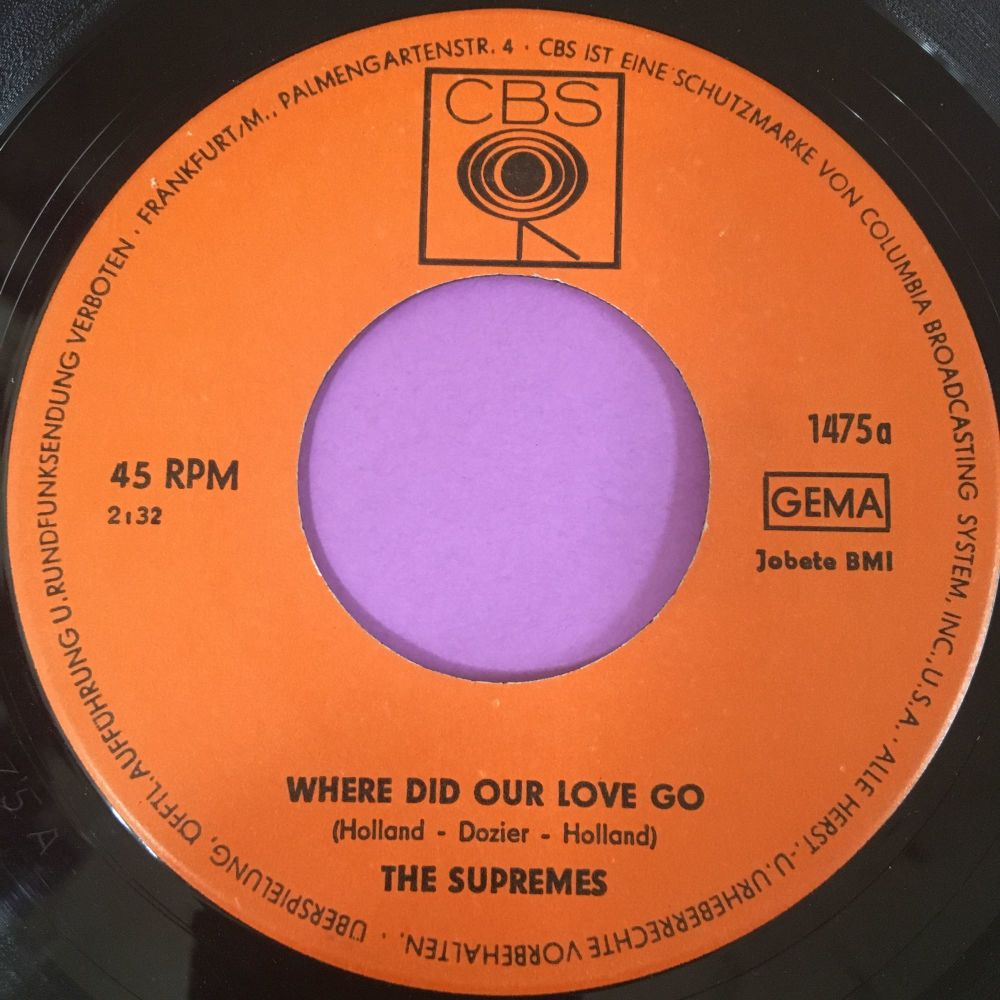 Supremes-Where did our love go-German CBS E