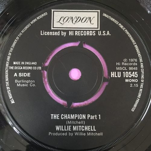 Willie Mitchell-The champion-UK London E+