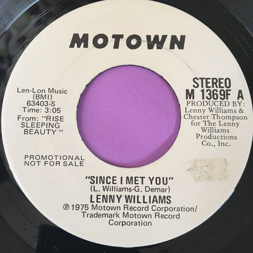 Lenny Williams-Since I met you-Motown WD E+