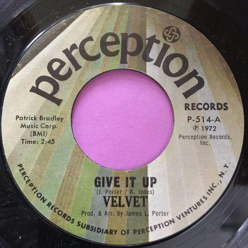Velvet-Give it up-Perception E+