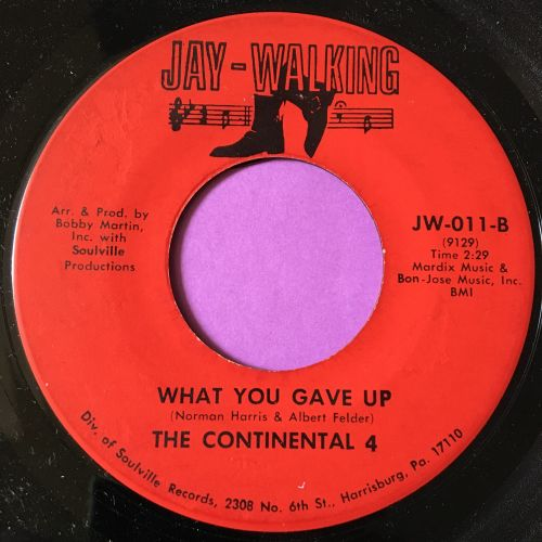 Continental 4-What you gave up-Jat walking M-