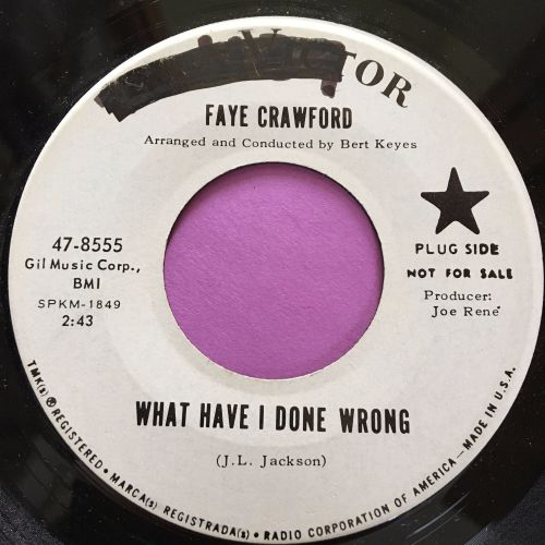 Faye Crawford-So many lies/What have I done wrong-RCA wol E+