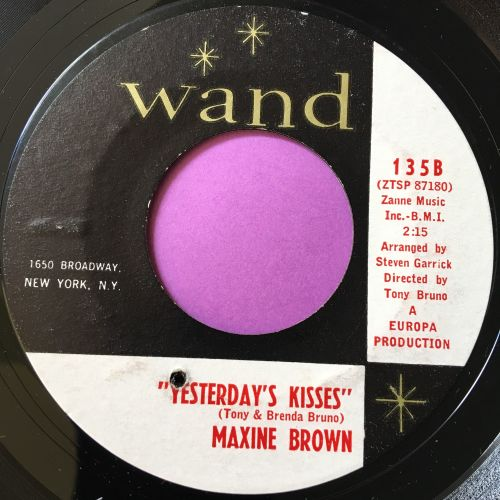 Maxine Brown-Yesterday's kisses-Wand E+