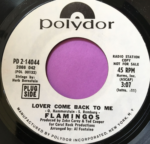 Flamingo's-Lover come back to me-Polydor WD M-
