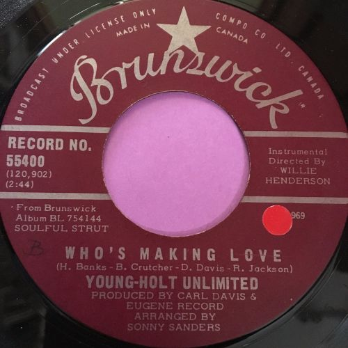 Young -Holt Unlimited-Who's making love-Canadian Brunswick E+