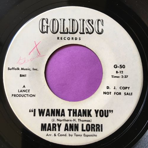Mary Ann Lori-I wanna thank you-Goldisc WD E+