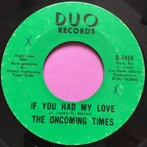 Oncoming times-If you had my love-Duo E