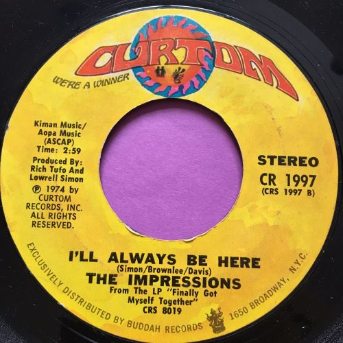 Impressions-I'll always be here-Curtom E+