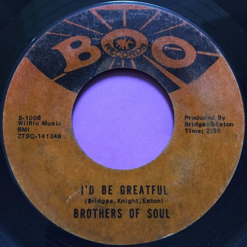 Brothers of Soul-I'd be grateful E
