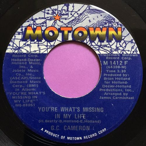 G.C Cameron-You're what's missing in my life-Motown E+