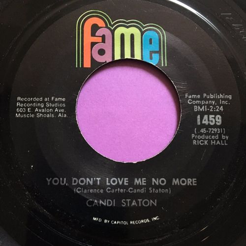 Candi Staton-You don't love me no more-Fame E+