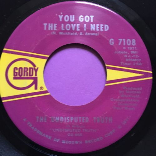 Undisputed Truth-You got the love I need-Gordy E+