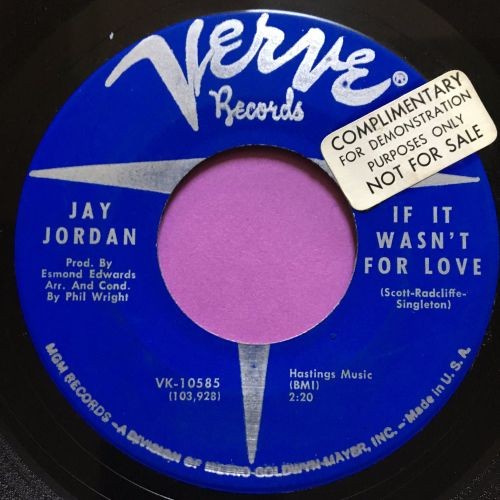 Jay Jordan-If it wasn't for love-Verve stkr E+