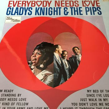 Gladys Knight-Everybody needs love-UK Tamla Motown LP E+