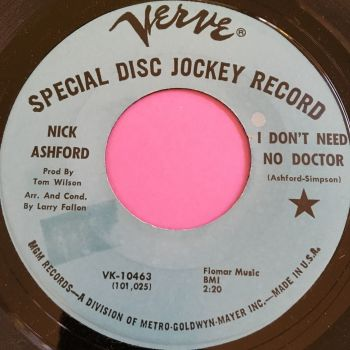 Nick Ashford-I don't need no doctor-Verve demo stkr M-